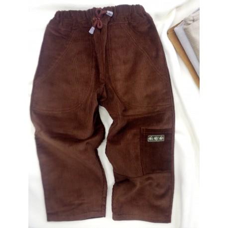 """Manžestrové kalhoty """" Kuba"""" hnědé"""
