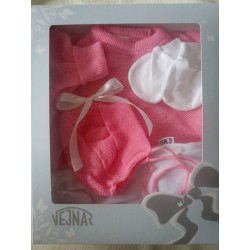 Luxusní pletená souprava Mimi růžová