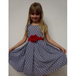 Letní šaty Terezka, modrá kvítka