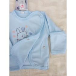 Košilka kojenecká zavinovací, modrá