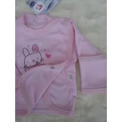 Košilka kojenecká zavinovací, růžová
