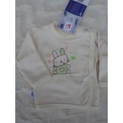 Košilka kojenecká zavinovací, smetanová