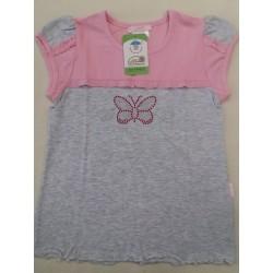 Letní tričko motýlek růž POSLEDNÍ KOUSEK !