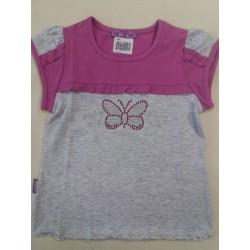 Letní tričko motýlek fialková