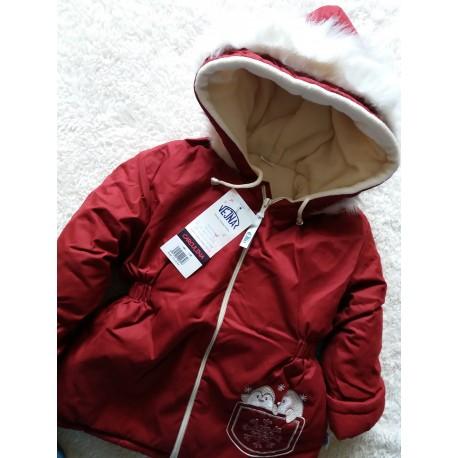 Teplá zimní bunda Aida červená