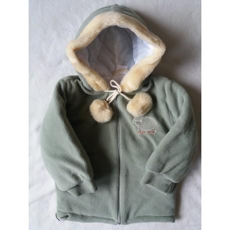 Zimní fleecová bunda Bambulín olivka POSLEDNÍ KOUSKY!!