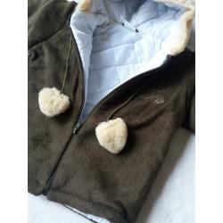Zimní fleecová bunda Bambulín zeleno-hnědá  POSLEDNÍ KOUSKY!!