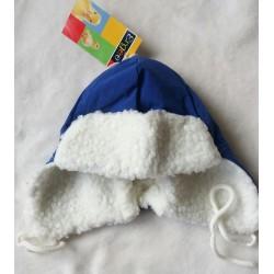 Teploučká fleecová beranice modrá