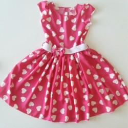 šaty Stázka malina/srdce KAZ!!