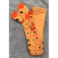 Kojenecké punčocháčky kolečka oranž