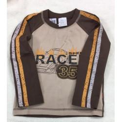 Tričko RACE tm.hnědá
