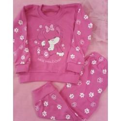 Pyžamo Tlapička tm.růžová