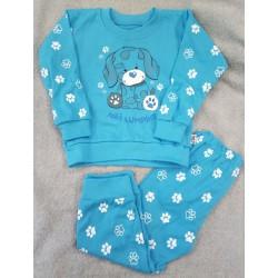 Pyžamo Tlapička tyrkys