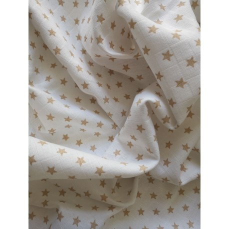 Plena bavlněná tisk Prem 70x70 zlatá hvězda