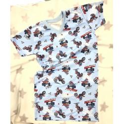 Chlapecká noční košile Cross svetlá 128-146
