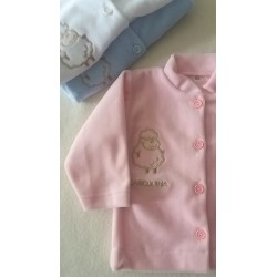 Kabátek Samet růžový