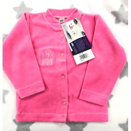 Kabátek Samet tm. růžový