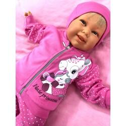 Mikinka Princezna teplejší růžová 98-110
