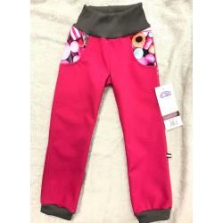 Softshellové kalhoty s fleecem Bonbonky 134-146
