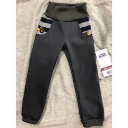 Softshellové kalhoty Bagry s fleecem 134-146