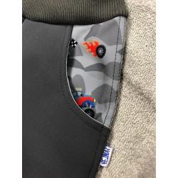 Softshellové kalhoty Auťák 98-110