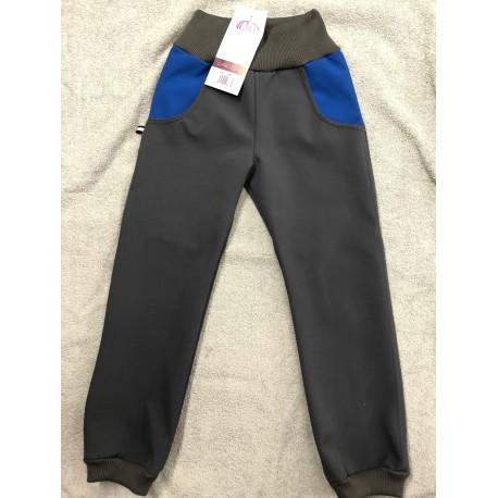 Softshellové kalhoty modré 98-110