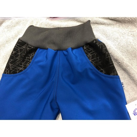 Softshellové kalhoty modrá/vzor134-146