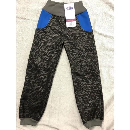 Softshellové kalhoty Vzor/modrá 98-110