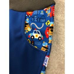 Softshellové kalhoty s fleecem Hasiči/lampas 134-146