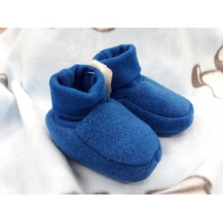 Capáčky fleec modré