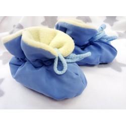 Capáčky ZIMA vyteplené modré