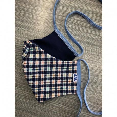 Herren Schutzmasken blauer Würfel:) mit oder ohne Tasche