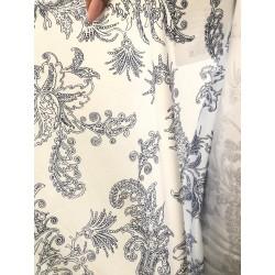 Látka Modrotisk na bílé 100% bavlna, úplet