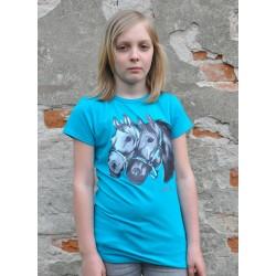"Halenka, tričko "" Perla"" modrá"