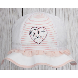Dívčí klobouček Klárka korálová