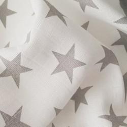 Plena bavlněná tisk Prem 70x70 šedá hvězda