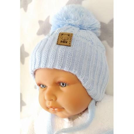 Zimní teplá čepička Niky modrá