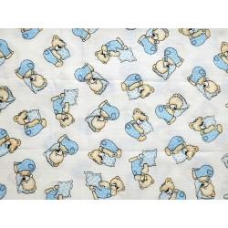 Plena bavlněná tisk Prem 70x70 méďa modr.polštář