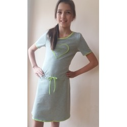 Šaty Verča šedá/zelená