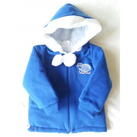 Zimní fleecová bunda Bambulín modrá POSLEDNÍ KOUSKY!!