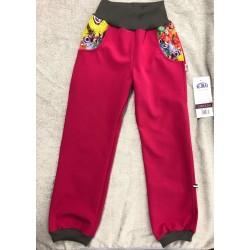 Softshellové kalhoty Motýlci 134-146