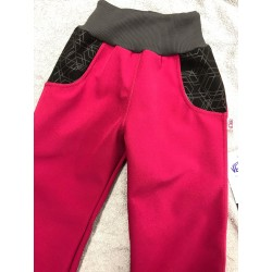 Softshellové kalhoty Týna/růž 98-110