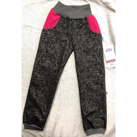 Softshellové kalhoty Týna/růž 134-146