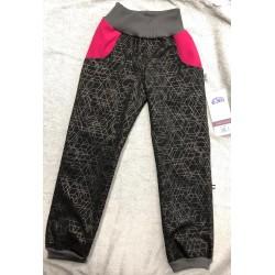 Softshellové kalhoty s fleecem Týna/vroz 116-122