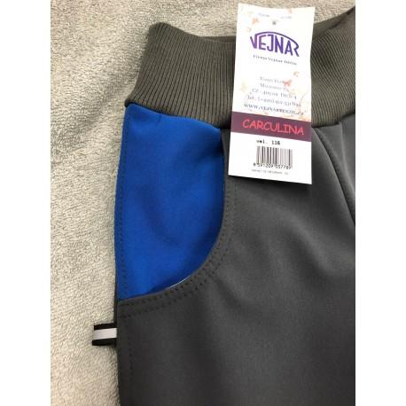 Softshellové kalhoty šedé/modré 116-128