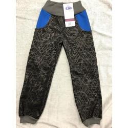 Softshellové kalhoty Vzor/modrá 134-146