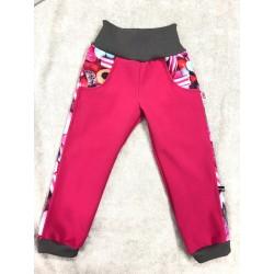 Softshellové kalhoty s fleecem Bombonky134-146