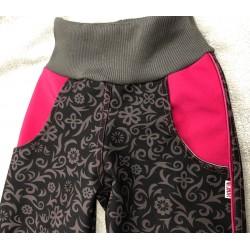 Luxusní softshellové kalhoty s fleecem Clementýna134-146