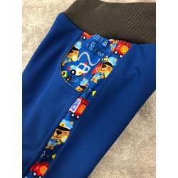 Softshell kalhoty s fleecem hasiči/lampas 116-128