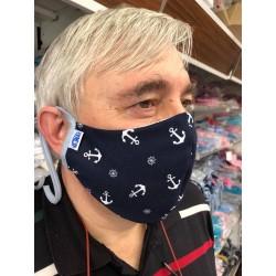 Ochranné ústní roušky pánské Kotva modrá :)